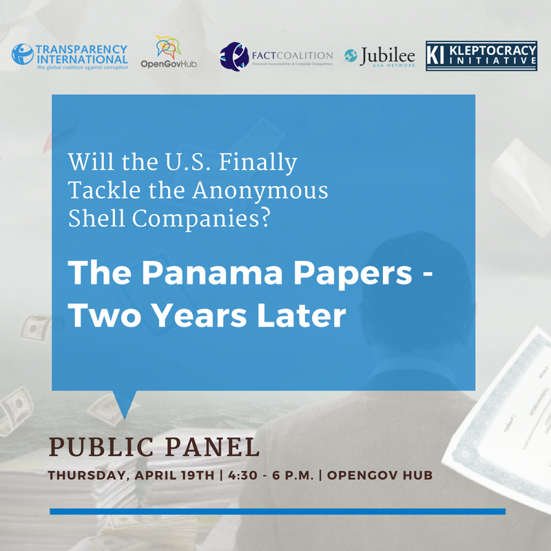 The Panama Papers — Two Years Later: Will the U.S. Finally Tackle Anonymous Shell Companies?