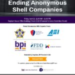 Ending Anonymous Shell Companies Friday, April 12, 11:00 AM - 12:00 PM Rayburn House Office Building